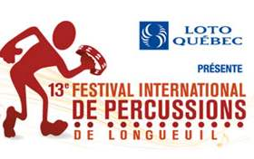 2014 Longueuil Percussion Festival June 6-13: 450 463-2692